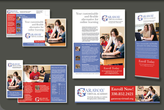 Enrollment marketing campaign material for Garaway Local School's virtual academy.