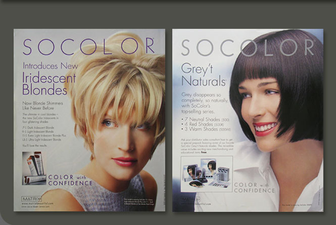 Socolor consumer ads for Matreix Essentials, Inc.