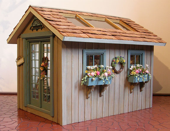 Pat S Miniatures Garden Shed And Garden