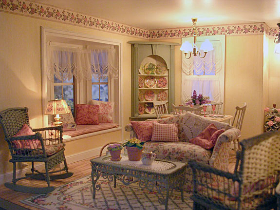 victorian cottage living room pat s miniatures cottage 12835